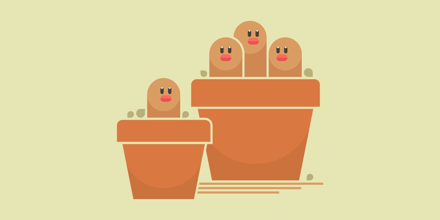 Potted Diglett & Dugtrio